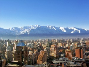 Fun Earth Science Facts for Kids on Chile - Image of Santiago City Skyline in Chile