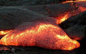Fun Earth Science for Kids on Igneous Rocks - United States Geological Survey Image of Magma at the Earth's Surface