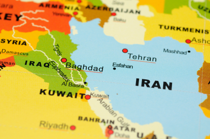 Fun Facts All About Iraq for Kids - Map Image of Iraq and Iran - Iraq Worksheet