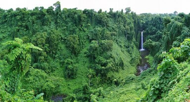 Fun Facts for Kids on Samoa - Image of a Waterfall in Samoa
