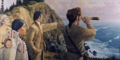 Fun Geography for Kids on Lewis and Clark - image of Sacagawea Joining Lewis and Clark