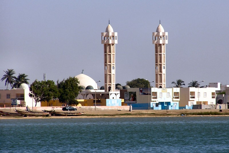 Fun Geography for Kids on Senegal - Image of a Mosque in Senegal - Senegal Worksheet