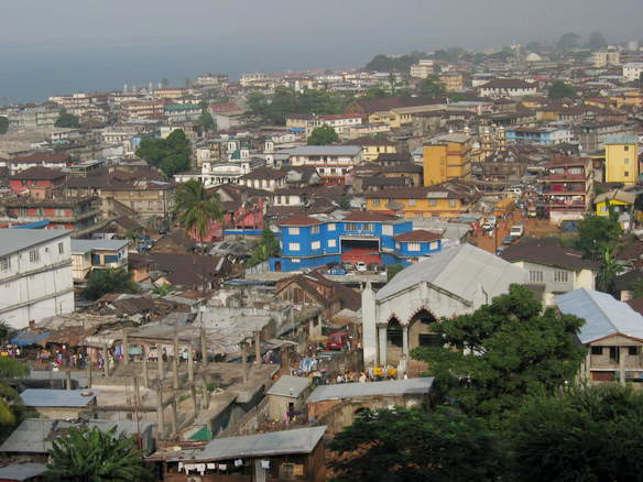 Fun Geography for Kids on Sierra Leone - the View of Freetown in Sierra Leone