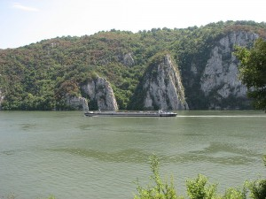 Fun Kids Science Facts on Rivers - Image of the Danube River Barge