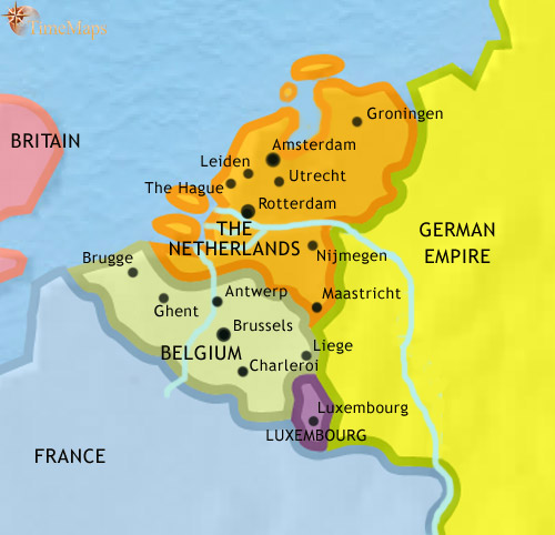 Low countries facts for kids fun kids science facts on the low countries a map of the low countries gumiabroncs Gallery