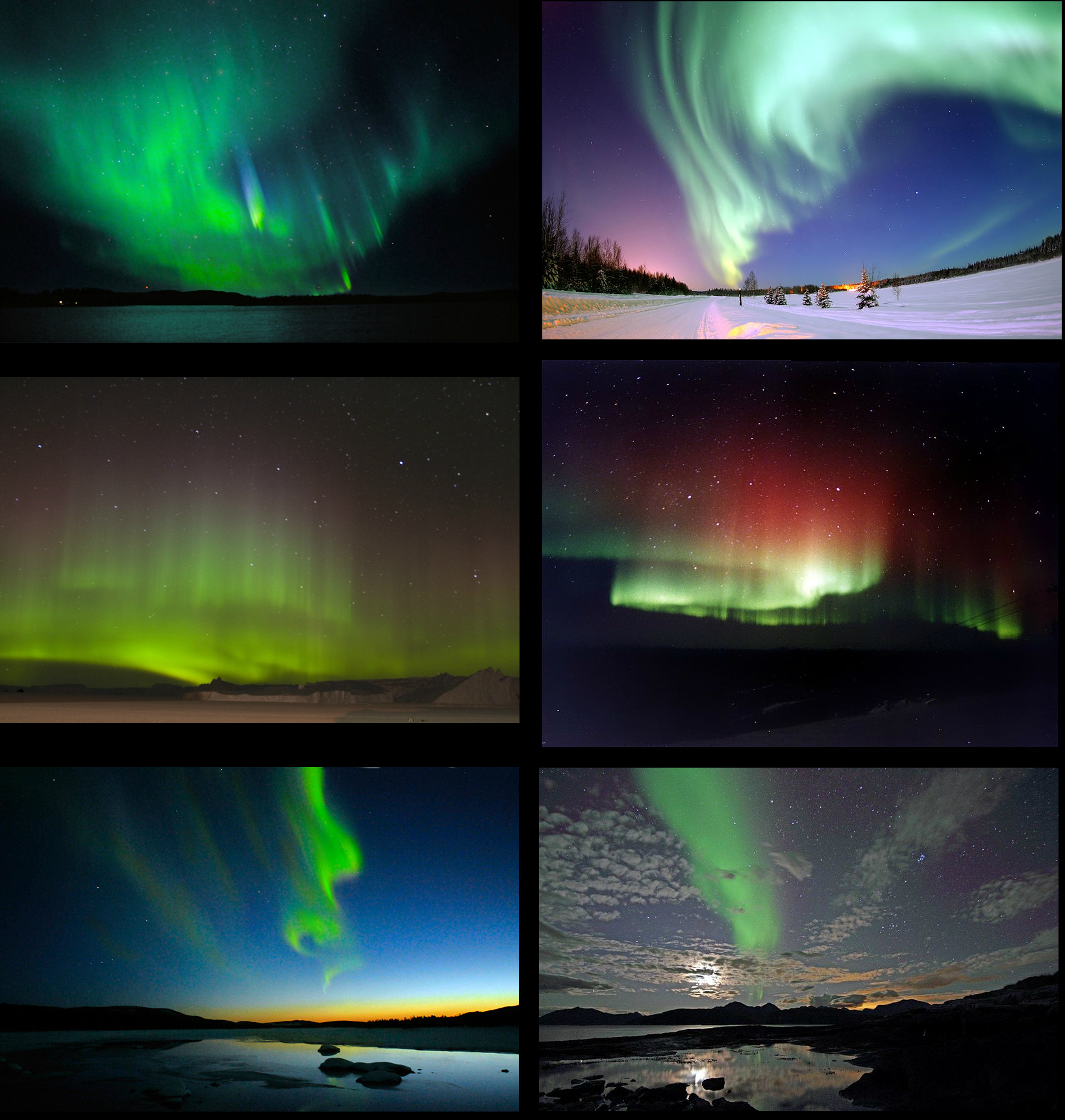 Fun Science for Kids on Natural Wonders of the World - Image of the Aurora Borealis