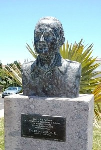 Kids Science Fun Facts All About Thor Heyerdahl - the Bust of Thor Heyerdahl in Guimar, Tenerife