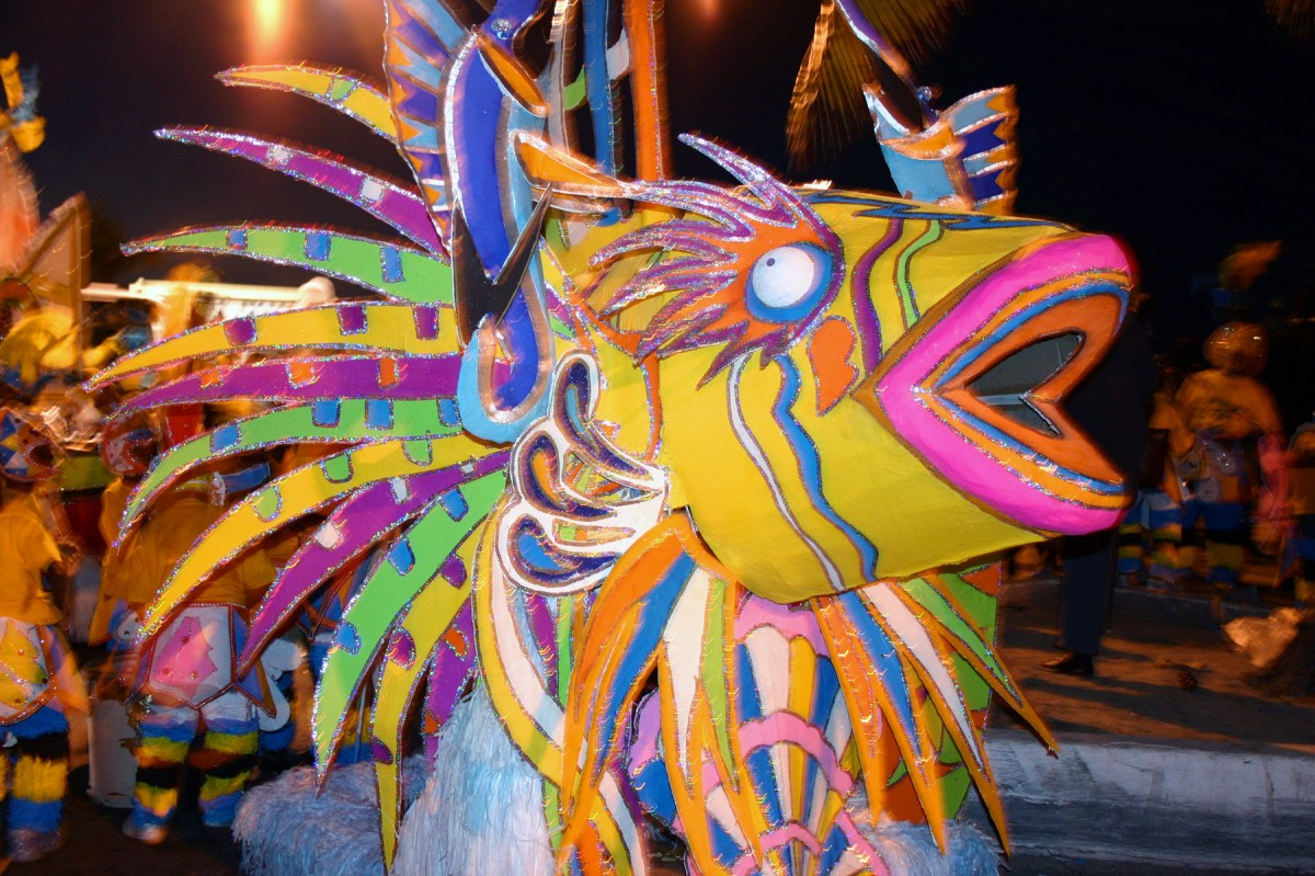 Simple Science for Kids on Bahamas - Image of the Junkanoo Festival in Bahamas - Bahamas Worksheet