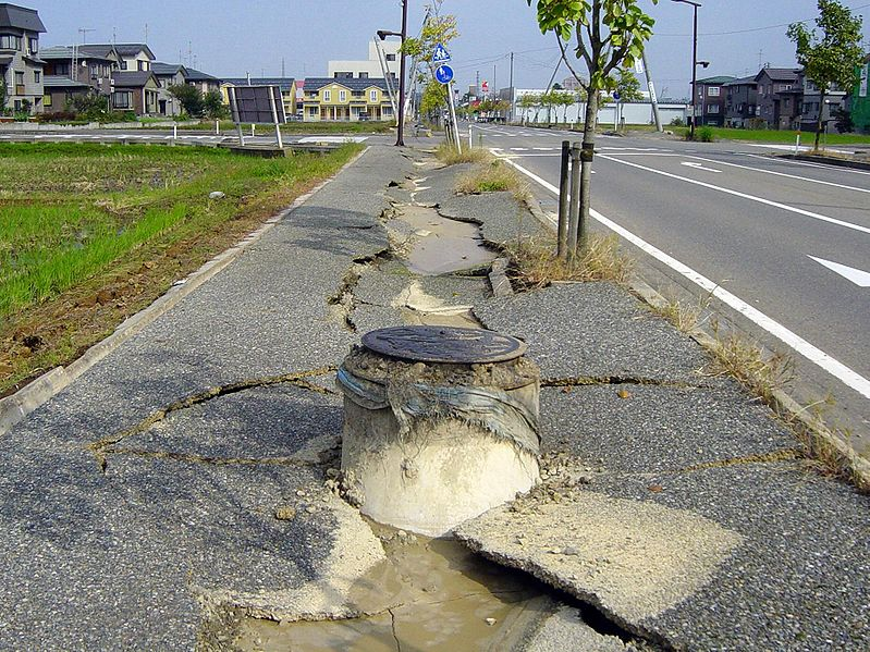 All About Earthquakes Fun Facts for Kids - Image of a Damaged Paveway - Earthquakes Quiz