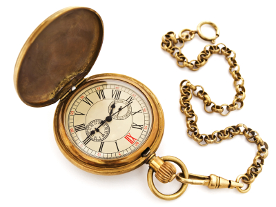 All about Keeping Time Easy Science for Kids - Image of a Pocket Watch Clock