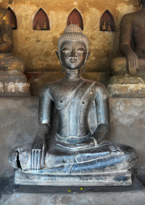 All about Laos for Kids - Image of a Buddhist Shrine