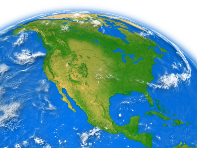 All about North America Easy Science for Kids - Map of North America