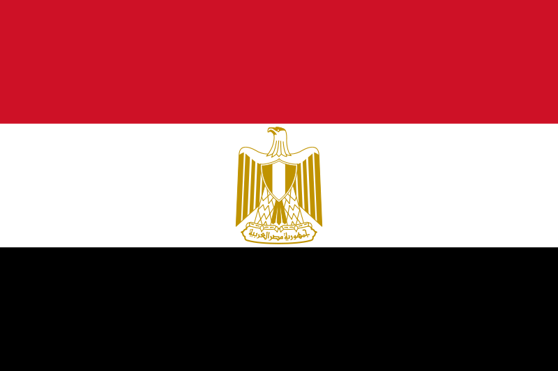 Earth Science Fun Facts for Kids on Egypt - National Flag of Egypt
