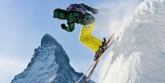 Easy Geography for Kids on Mountains - Image of a Man Skiing from the Peak