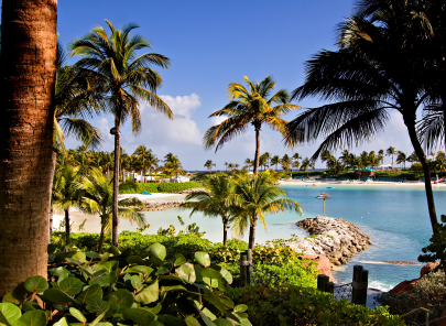 Easy Kids Science Bahamas Quiz - Image of a Beautiful Beach in Paradise Island, Bahamas