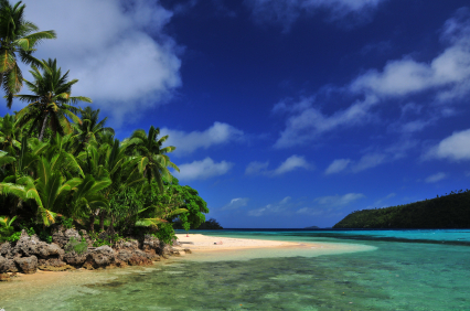 Easy Science Kids All about Tonga - Image of a Coastal Area in Tonga