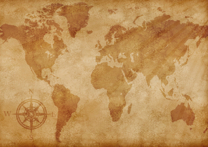 Easy Science Kids Facts About Cartography - Image of an Old World Map - Cartography Quiz