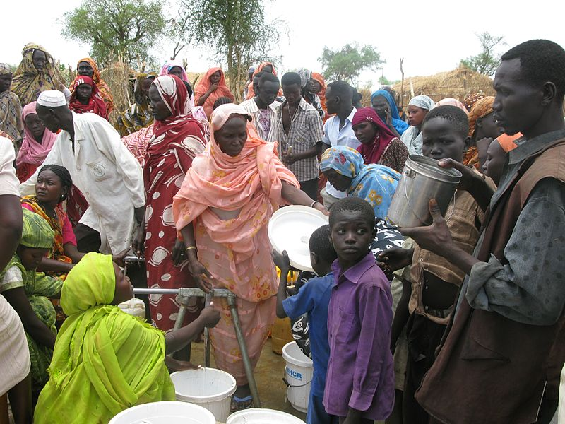 Easy Science for Kids on Sudan and South Sudan - Sudanese Queue for Water