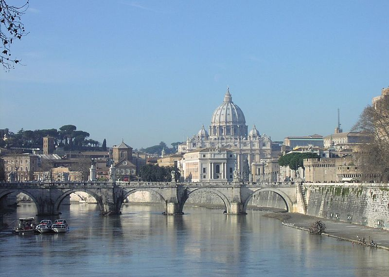 Fun Earth Science Facts for Kids on the Vatican City - Image of the Dome of Saint Peter's Basilica - Vatican City Quiz