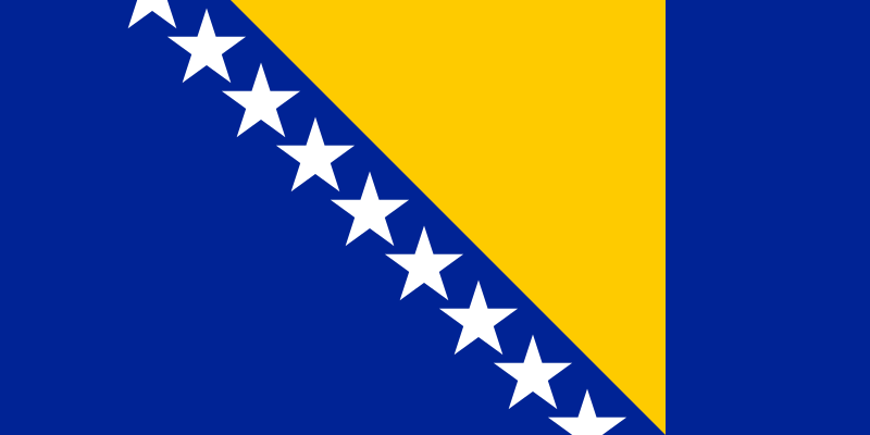 Fun Earth Science for Kids All About Bosnia and Herzegovina - the National Flag of Bosnia and Herzegovina