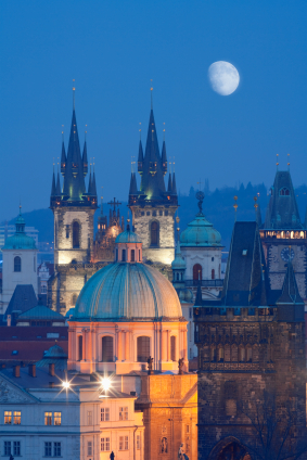 Fun Earth Science for Kids All about Czech Republic - Czech Republic Cityscape in the Night image