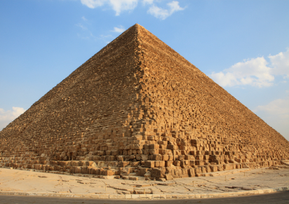 Fun Facts for Kids All about the Seven Wonders of the Ancient World - Image of the Great Pyramid in Egypt