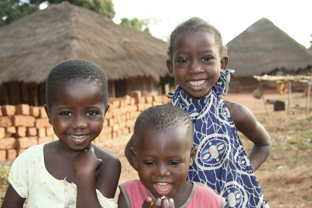 Geography for Kids Guinea-Bissau Quiz - Image of Little Kids in Guinea-Bissau