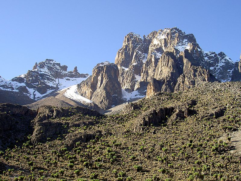 Fun Geography for Kids on Kenya - Image of Mount Kenya