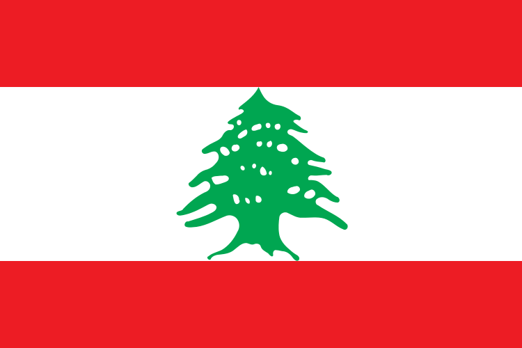 Fun Geography for Kids on Lebanon - National Flag of Lebanon