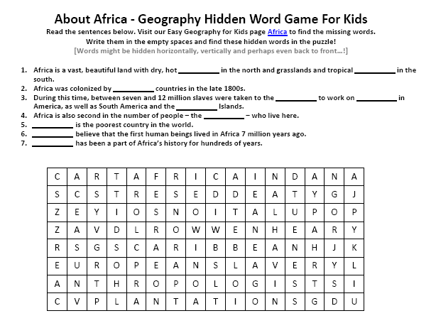 Of Africa Worksheet Fun Earth Science Worksheets For Kids. Of Africa Worksheet Fun Earth Science Worksheets For Kids. Worksheet. Africa For Kids Worksheets At Clickcart.co
