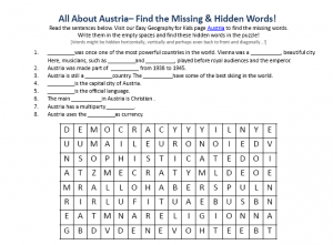 Download our FREE Austria Worksheet for Kids!