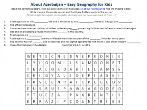 Download our FREE Azerbaijan Worksheet for Kids!