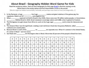 Download our FREE Brazil Worksheet for Kids!