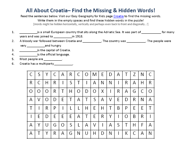 Worksheets The Language Of Science Worksheet image of croatia worksheet free earth science printable word search activity sheet