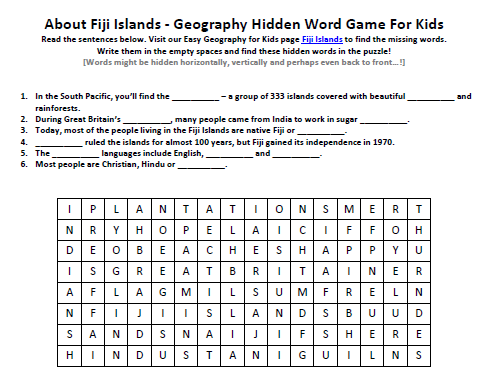 Download our FREE Fiji Islands Worksheet for Kids!