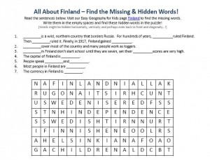 Download our FREE Finland Worksheet for Kids!