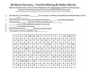 Download our FREE Germany Worksheet for Kids!