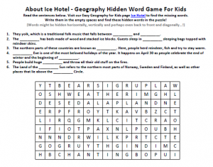 Download our FREE Ice Hotel Worksheet for Kids!