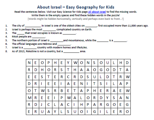 Image Of Israel Worksheet Best Free Science Activities Worksheet