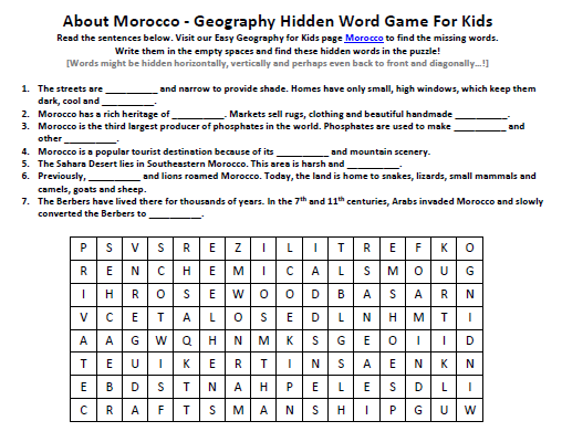 Of Morocco Worksheet Free To Use Geography Word Games For. Of Morocco Worksheet Free To Use Geography Word Games For Kids. Worksheet. Use Of This And That Worksheet For Kids At Mspartners.co