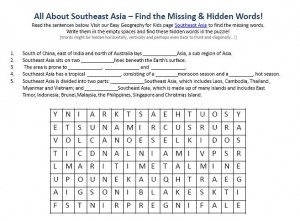Download our FREE Southeast Asia Worksheet for Kids!