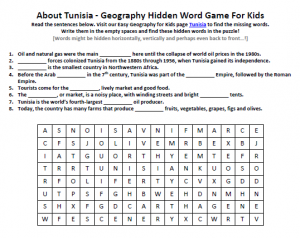 Download our FREE Tunisia Worksheet for Kids!