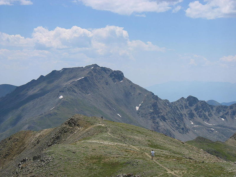 Mount Harvard in the Rocky Mountains of Colorado