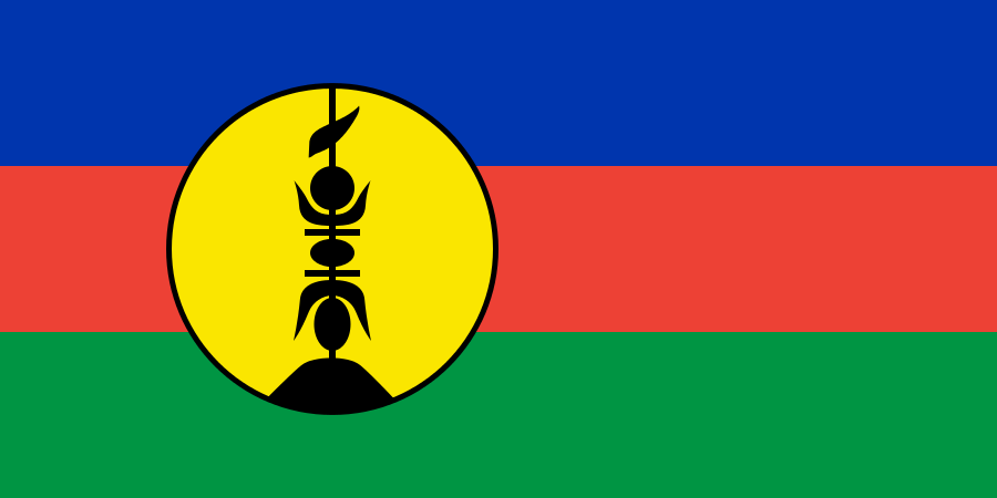 New Caledonia Quiz - Image of the National Flag of New Caledonia