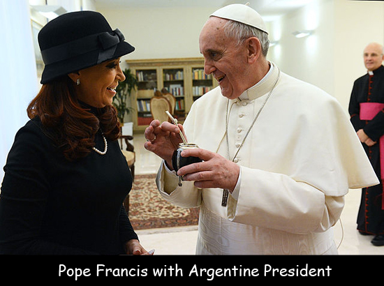 Pope Francis with Argentine President